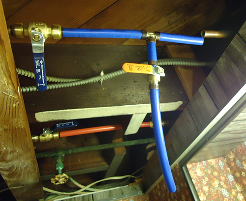 Pex piping white knight plumbing for Pex pipe vs cpvc
