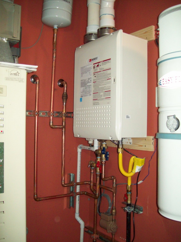 noritz nrc 111 dv tankless water heater install with. Black Bedroom Furniture Sets. Home Design Ideas