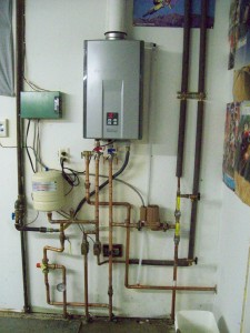 Rinnai Install for In Floor Heat & Potable Water