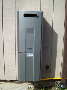 Rinnai R94LSi Tankless Water Heater With Optional Pipe Cover