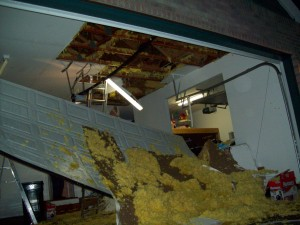 burst pipe damage