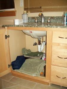 cabinent door open